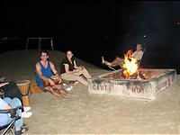 たき火と太鼓