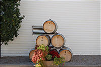 かわいらしいワイン樽。